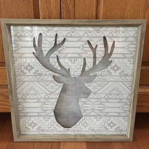 Dimensional deer framed wall art